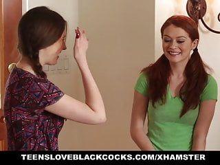 Teensloveblackcocks - cute redhead rides large swarthy knob