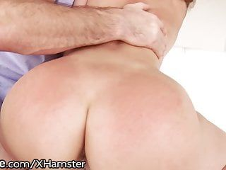 Large butt ivy lebelle anal creampie from large dong dad