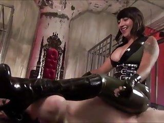 Hawt oriental headmistress electro punishment and faceslapping