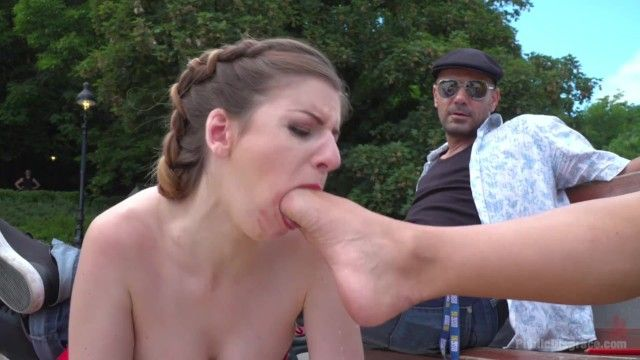Public disgrace outstanding nikky thornes foot gag