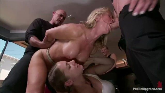 Golden-haired doxy disgraced