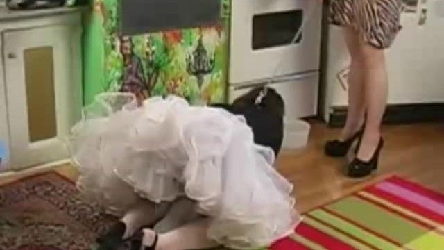Sissy maid cuckold spouse worships his wife