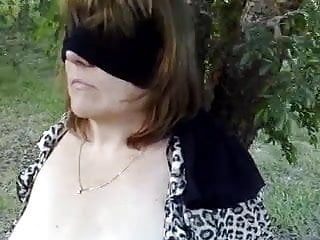 Abbey the sexy aussie milf blindfolded and fastened