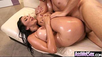 Cute large arse gal missy martinez receive oiled and hard anal nailed on web camera video-17