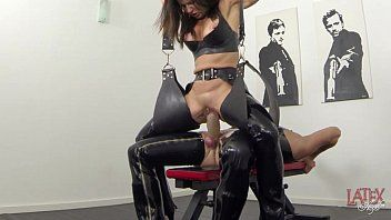 Way-out squirting and pissing in latex