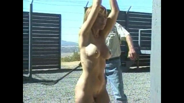 Large tit milf fastened up and whipped outdoors