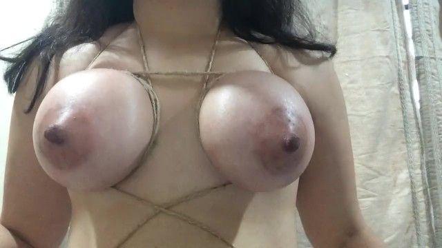Self breast servitude gal - fastened taut bra buddies