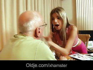 Hot gina gerson pumping old man