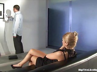 Breasty blond pumped in an comics gallery