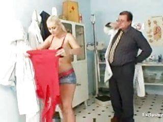 Breasty alexa ballsy gyno exam and bumpers servitude at kinky clinic