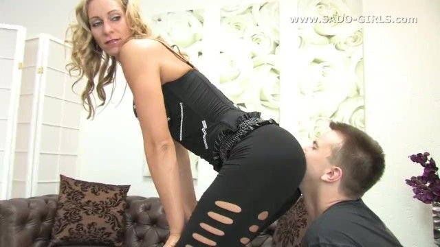 A-hole worship femdom. kiss my a-hole villein svenja german mistress. sado-girls.