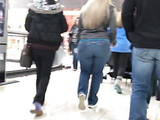 Thick golden-haired pawg milf christmas shopping busted edited