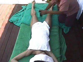 Hidden livecam bali female tourist acquires a glad ending massage