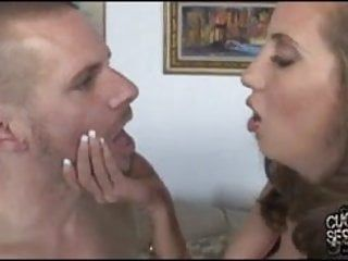Kelly divine overspread with darksome cum right on the cuckold