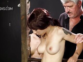 Unmerciful boob castigation