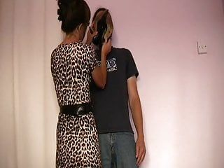 Cook jerking whilst sniffing high heels