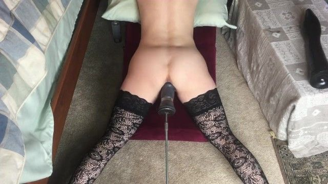 Petite beauty drilled by machine