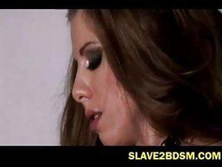 Way-out female slavery kink movie scene
