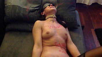 German older sex villein slut fastened gagged sex toy