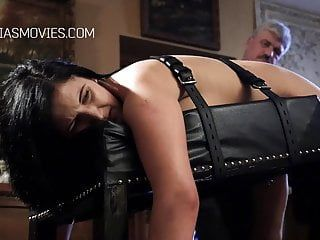 Unmerciful whipping for large hotty