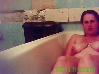 Agonorgasmos of my mama in bathroom tube. hidden livecam