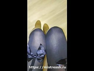 Take up with the tongue my heel humiliation from female-dom boot fetish pov