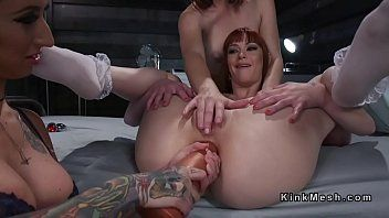 Lesbo serf receives unfathomable anal penetration