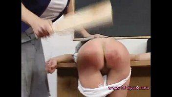 Wooden paddle flogging