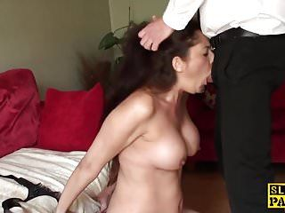 Uk sub throatfucked in advance of spunked in face hole