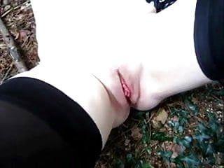 Outdoor fur pie slapping