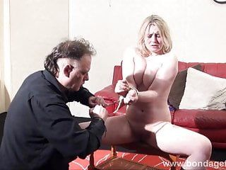 Blond slavery sweetheart amber west as damsel in distress