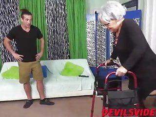Juvenile pervert fuck her granny so hard