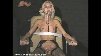 Hawt blond wynters bizarre piercing punishments and teat tortured bondman beauty