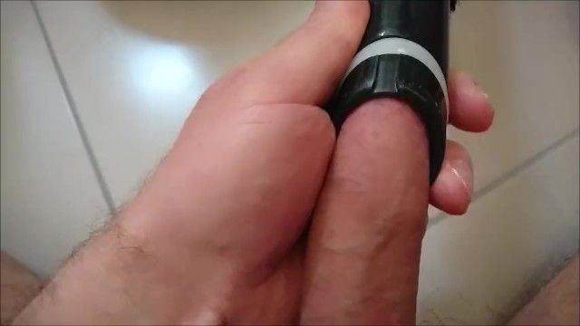 Playing with a vacuum cleaner on my wang and balls