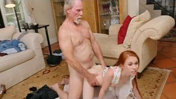 Redhead dolly little takes old mans dink doggy style