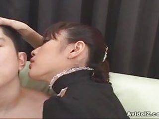 Kinky sexy japanese maid acquires her cookie pumped hard