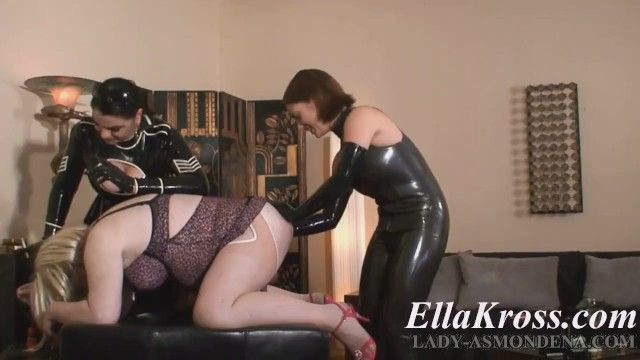 Sissy wench s fisting by two mistresses