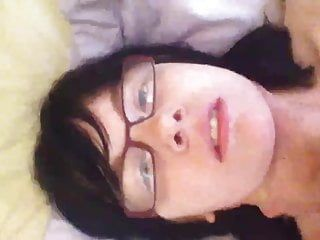Self strangling and and huge load of cum