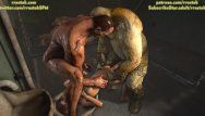 Lara croft fucktoy for prison ogres cg animation