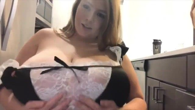 Nice-looking breasty red head maid