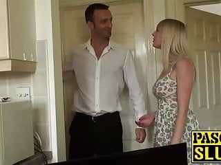 Lustful golden-haired gets a hard prick