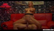 Breasty blond acquires her sausage portion on a re