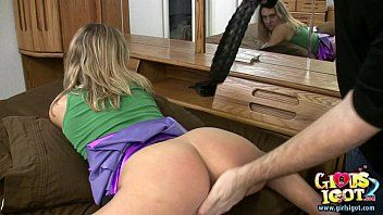 Spanked wife acquires her wazoo red by dilettante bff
