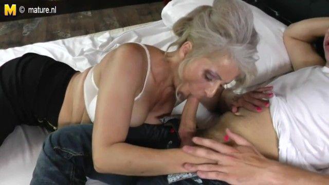 Ger: bushy grandma hard pumped by youthful paramour