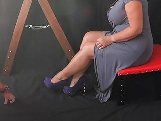 Sissy serf humiliation - leg humping for dominatrix-bitch