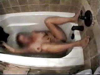 Caught my mamma masturbating in washroom tube. hidden livecam