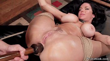 Breasty serf squirter anal toyed thraldom