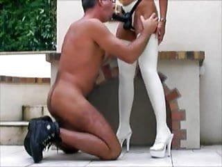 Wife bonks her dude outdoor
