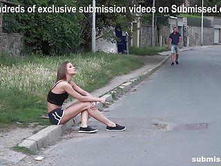 Struggling playgirl sarah kay street pickup gagged subbed fuckd