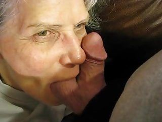 Granny loves his balls and dick